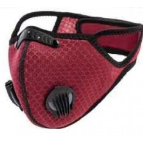 1ADOPLPH replaceable filters  mask (wine red)